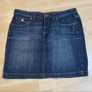 Gap jeans dark wash denim skirt in size 8